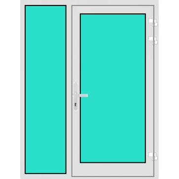 Aluminium Haustür mit Seitenteil links mit Glasfüllung