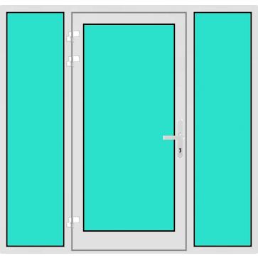 aluminium haust r mit 2 seitenteilen online kaufen konfigurieren ab 642. Black Bedroom Furniture Sets. Home Design Ideas