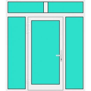 aluminium haust r mit 2 seitenteilen oberlicht online kaufen konfigurieren ab 780. Black Bedroom Furniture Sets. Home Design Ideas