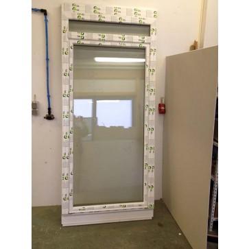 Kunststoff Balkontür mit Haustürschwelle Weiß Breite 1100 x Höhe 2400 mm