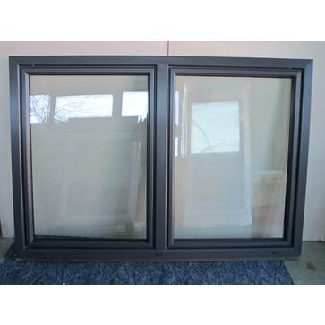 Kunststofffenster Anthrazit 2 Flügler Breite 1980 x Höhe 1350 mm