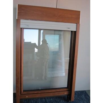 Kunststofffenster Golden Oak mit Aufsatzrollladen Breite 1080 x Höhe 1560 mm