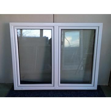 Kunststofffenster Weiß  2 Flügler Breite 1730 x Höhe 1350 mm
