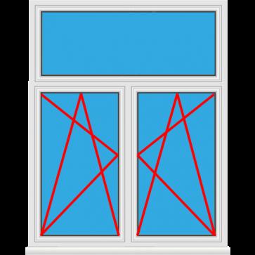 Kunststofffenster 2 fl gelig mit oberlicht rollladen for Kunststofffenster konfigurieren