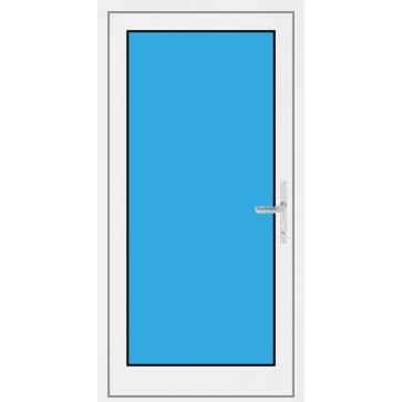 Kunststoff Haustür 1. Flügelig mit Glasfüllung