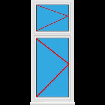 Kunststofffenster Dreh mit Oberlicht Dreh