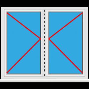 Kunststoff Balkontür 2 Flügelig Dreh - Dreh abschließbarKunststoff Balkontür 2 Flügelig Dreh - Dreh abschließbar