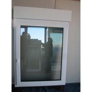 Kunststofffenster Weiß mit Rollladen DKL Breite 1050 x Höhe 1380mm
