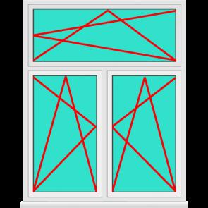 2 Flügeliges Aluminium Fenster mit Oberlicht Dreh Kipp zu Top Preisen.