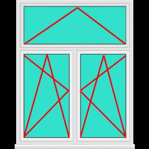 Aluminium Fenster 2 Flügelig Dreh Kipp mit Oberlicht Online konfigurieren