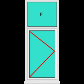 Aluminium Fenster Dreh mit Oberlicht Festverglast Online Kaufen