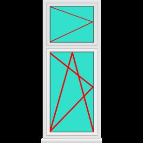 Aluminium Fenster Dreh Kipp mit Oberlicht Dreh Online Bestellen