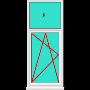 Aluminium Fenster Dreh Kipp mit Oberlicht Festverglast Kaufen