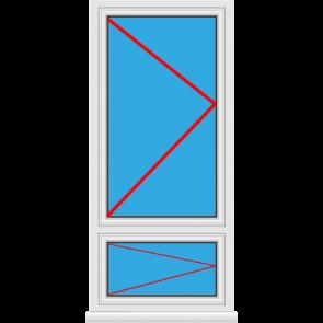 Kunststofffenster Dreh mit Unterlicht Dreh