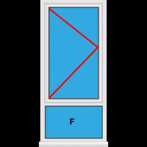 Kunststofffenster Dreh mit Unterlicht Fest im Blendrahmen
