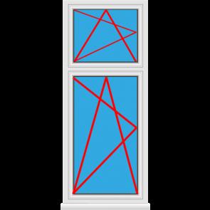 Kunststofffenster Dreh Kipp mit Oberlicht Dreh Kipp