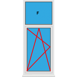 Kunststofffenster Dreh Kipp mit Oberlicht Fest im Blendrahmen