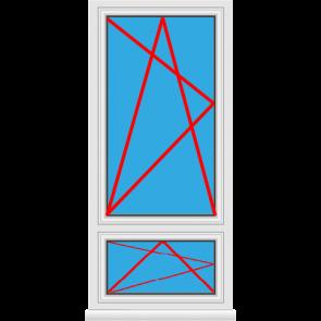 Kunststofffenster Dreh Kipp mit Unterlicht Dreh Kipp