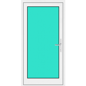 Aluminium Haustür 1. Flügelig mit Glasfüllung