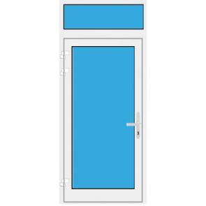Kunststoff Haustür mit Oberlicht mit Glasfüllung