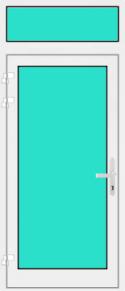 Aluminium Haustür mit Oberlicht mit Glasfüllung