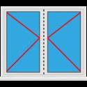 Kunststoff Balkontür 2 Flügelig Dreh - Dreh abschließbar