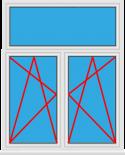 Kunststofffenster 2 Flügelig Dreh Kipp - Dreh Kipp mit Oberlicht Fest im Flügel