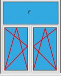 Kunststofffenster 2 Flügelig Dreh Kipp - Dreh Kipp mit Oberlicht Fest im Blendrahmen