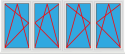 Kunststofffenster 4 Flügelig Dreh Kipp - Dreh Kipp - Dreh Kipp - Dreh Kipp (2 Elemente)