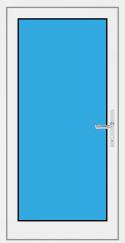 Kunststoff Haustür 1 Flügelig mit Glasfüllung