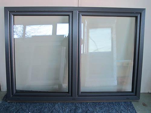 Kunststofffenster anthrazit  Kunststofffenster Anthrazit 2 Flügler Breite 1730 x Höhe 1350 mm ...