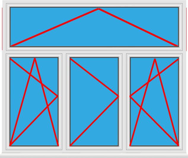 Kunststofffenster 3 fl gelig mit oberlicht online kaufen for Kunststofffenster konfigurieren