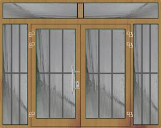 aluminium haust ren mit glasf llung 2 fl gelig mit oberlicht und seitenteile. Black Bedroom Furniture Sets. Home Design Ideas
