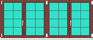 Aluminium Fenster Dreh Kipp