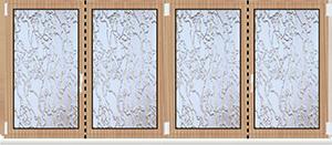 Aluminium Fenster Dreh Kipp mit Unterlicht