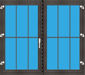 Kunststoff Balkontür 2 Flügelig Dreh abschließbar