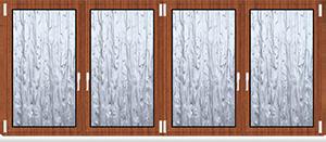 Kunststofffenster 4 Flügelig Dreh Kipp